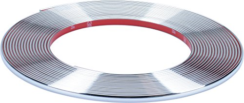 Preisvergleich Produktbild hr-imotion selbstklebende Chrom-Zierleiste - 1000cm x 7mm [3M Material | Zuschneidbar | Witterungsbeständig | Hochflexibel] - 12010301