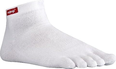Injinji Sport Original Weight Mini Crew Running Toe Socks Coolmax White Medium