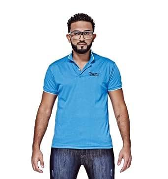 Mfaz - Polo Fashion - Couleur : Bleu - Taille : XXL