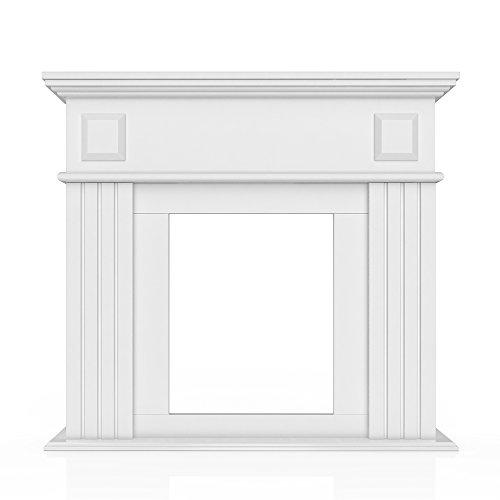 OSKAR Kaminumrandung Im Landhaus Stil 100 X 109 Cm In Weiß   Umbau Sims  Rahmen Konsole