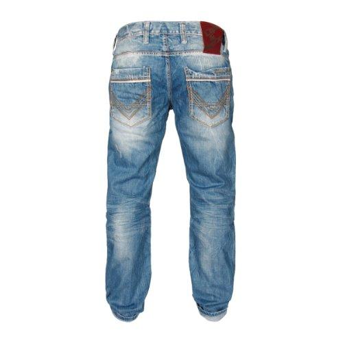 Cipo & Baxx Herren Straight Leg Jeanshose C-0595 Blau