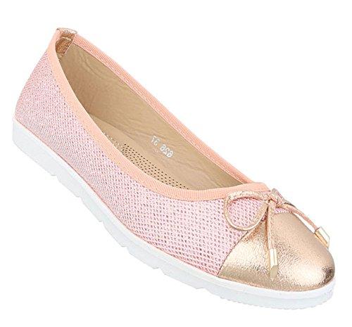 Damen Ballerinas Schuhe Lofers Espadrilles Pumps Rosa