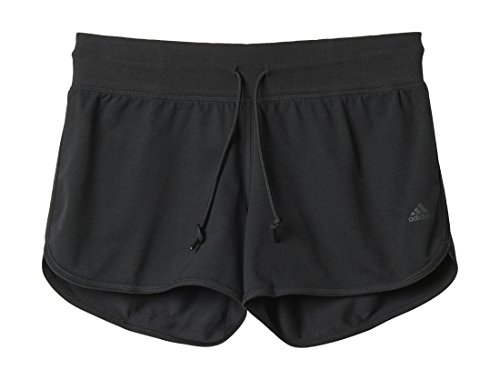 Long Sleeve Knit Pants (adidas Damen ESS Shorts Schwarz, M)