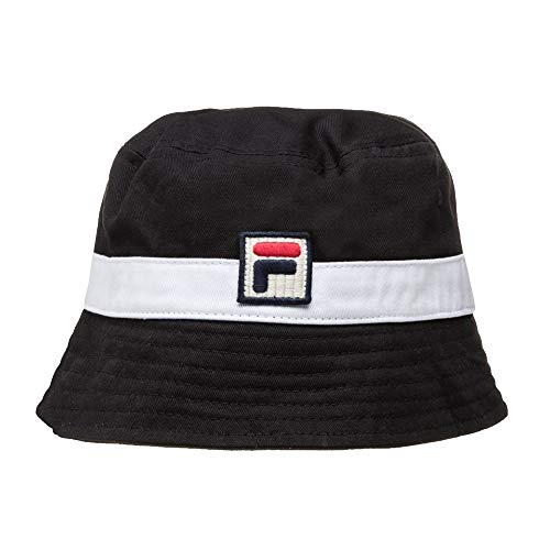 Fila Basil Herren Bucket Hat Schwarz (Shirt Vintage Fila)