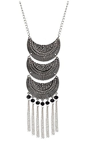 Andaaz Afghani Designer Turkish Style Vintage Oxidised German Silver Necklace for Women