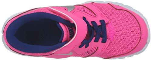Nike  Jordan Flight 23 Gp, Chaussures de sport fille Rose / Argenté / Bleu (Hypr Pnk / Mtllc Slvr-Dp Ryl Bl)