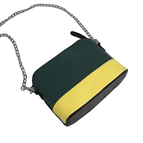 Longra Donna Sacchetto trasversale obliquo della spalla della singola spalla dello scomparto di colore Verde