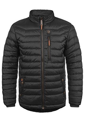 Blend Cemalo Herren Steppjacke Übergangsjacke Jacke mit Stehkragen, Größe:L, Farbe:Black (70155)