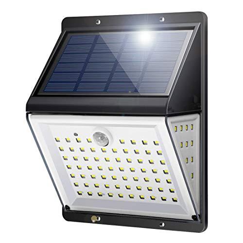 BILLION DUO Solarleuchte für Außen 88LED, Solarlampe mit Bewegungsmelder Sound-&Lichtsensor, [2200mAh]Solarlicht Sicherheitswandleuchte, 270°Solar LED Beleuchtung mit 4 Modi f. Garten,Hof,Veranda
