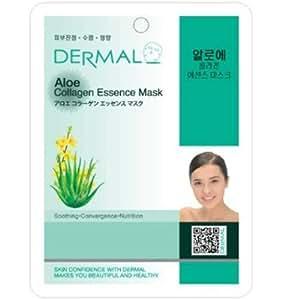 Dermal Korea Collagen Essence Facial Mask Sheet - Aloe (10 pack)