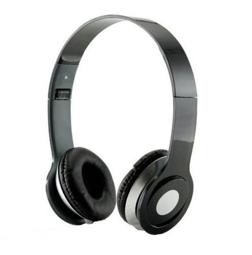 Price comparison product image SoundStrike 3.5mm Foldable Headphone Headset for Dj Headphone Mp3 Mp4 Pc Tablet sandisc Music Video and All Other Music Players (Black W / Mic)