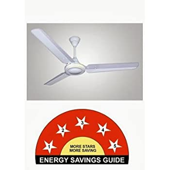 Crompton HS Plus 48-inch 53-Watt Power Saver Ceiling Fan (White)