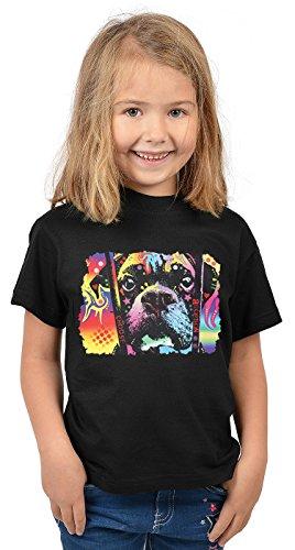 Boxer Kinder Tshirt - Hunde-Motiv Kindershirt - Hundemotiv : Choose Adoption Boxer - Kunstmotiv buntes Hunde-Shirt Kind Gr: M = 134-140