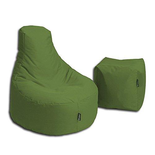 BuBiBag Stillkissen Set Kissen Lounge Gamer Sitzsack Sessel original Sitzkissen In & Outdoor...