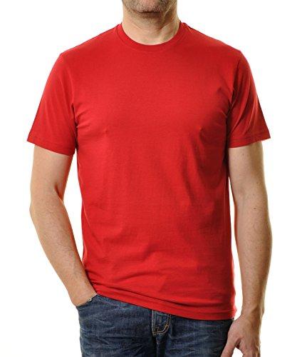 Ragman Herren T-Shirt Rundhals Singlepack Rot