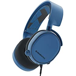 SteelSeries Arctis 3, Casque Gaming, Toute la Plateforme, PC / Mac / PlayStation 4 / Xbox One / Nintendo Switch / Android / iOS / VR - Bleu (Boreal Blue)