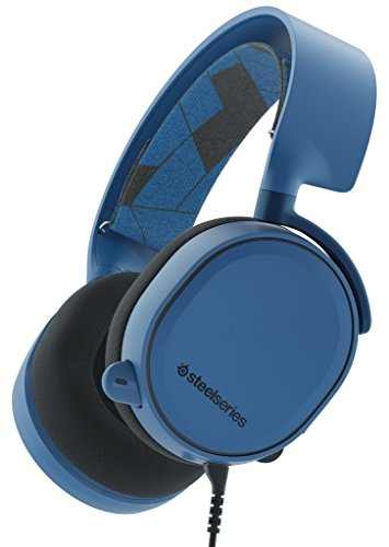 SteelSeries Arctis 3, Gaming-Headset, Kompatibel mit allen Plattformen, PC / Mac / PlayStation 4 / Xbox One / Nintendo Switch / Android / iOS / VR, Farbe Boreal Blue (Steelseries Headset Für Pc-gaming)