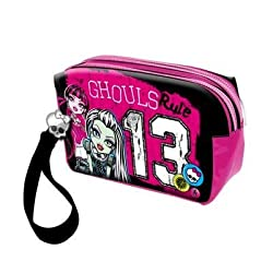 *Exclusive Monster High Monster High Pencil Case Make-up Bag Leather Look Stone Franking 2013