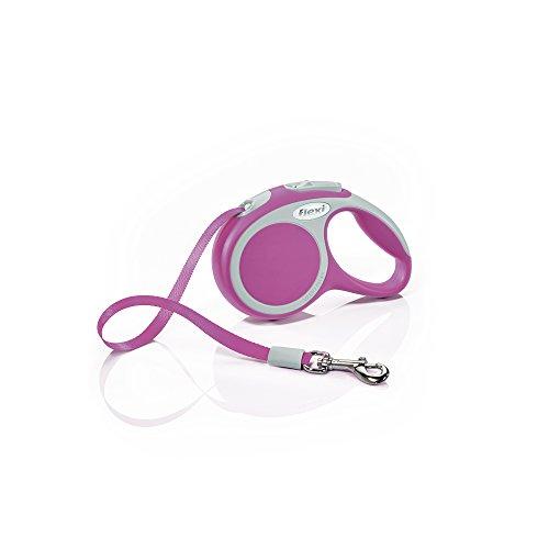 flexi Roll-Leine Vario XS Gurt 3 m pink für Hunde, Katzen und Kleintiere bis max. 12 kg