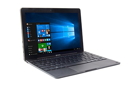 iOTA ONE Laptop / Tablet, 25,6 cm (10,1 Zoll), 2-in-1-Modell - (Schwarz) (Quad-Core-Prozessor Intel Atom, 1,33 GHz, 2 GB RAM, 32 GB eMMC-Speicher, Windows 10,  QWERTY-Tastatur)