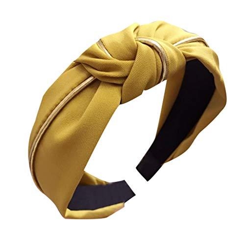 TOPGKD beliebt Damen Stirnband Haarband Bow Knot Cross Tie Samt Haarband ZubehörIns umsatzstark(Gelb) - Paisley Silk Bow Tie