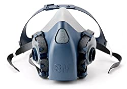 3M 51131370819 7501 or 37081(AAD) Half Facepiece Reusable Respirator, Small