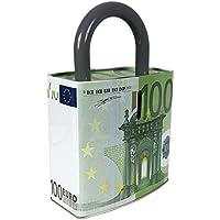 Preisvergleich für Mojawo Sparbüchse Spardose Sparschwein Blechdose Blech 100 Euro Geldschein H25xB16 cm