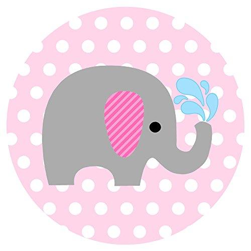 Adorebynat Party Decorations - EU Bebé elefante pegatina del sello - la fiesta de cumpleaños de la ducha del bebé en lunar - Set 50