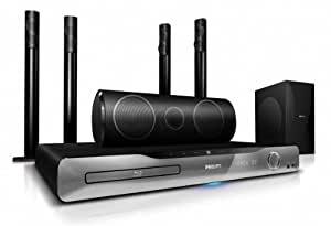 Philips HTS5590 Home cinéma 5.1 compatible 3D DVD Blu-ray HDMI 1000 W RMS USB Noir