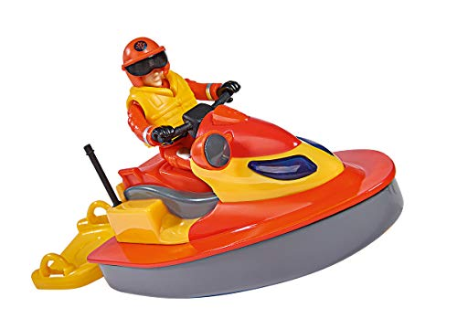 Simba 109251048 Feuerwehrmann Sam Juno Jet Ski mit Figur, One Size