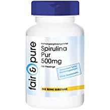 Spirulina Pur - 750 bolitas de alga spirulina en polvo (500 mg de Spirulina Platensis) - Sustancia pura vegetariana