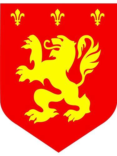 Generique - Cutout médiéval Lion Rouge diam. 30cm