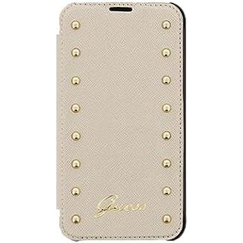 Book Case Guess Studded für Apple iPhone 6 Plus Cream Handytasche Hülle