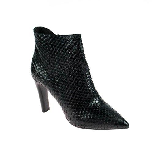 Elvio Zanon Damen Stiefelette Leder mit Absatz, Schuhgröße:40
