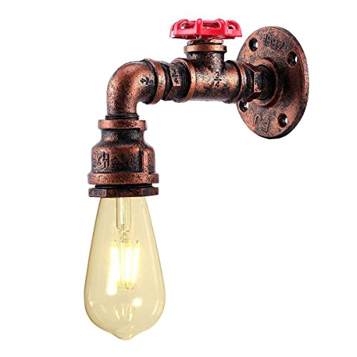KAWELL Creativo Vintage Lámpara de Pared Tubería de Agua Aplique de Pared Industrial Retro...