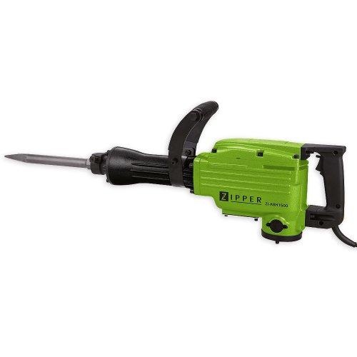Zipper elektrischer Abbruchhammer 1550 Watt Schlagstärke 45 Joule Stahlgehäuse