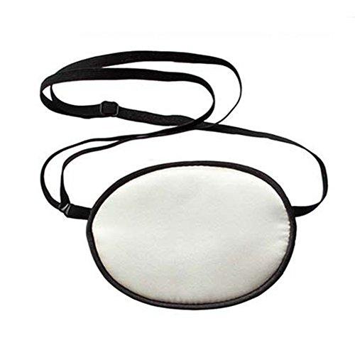 TININNA Erwachsene Piraten-Augenklappe,Seide Augen-Flecken behandeln Lazy Eye / Amblyopie / Strabismus EIN PATCH, Augenmaske Augen Beschattung Ebene für Erwachsene Faule Auge Amblyopie (Kostüme Weißen Shirt Piraten Erwachsenen)