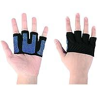 Il Sollevamento Pesi Grips | allenamento Guanti per Cross Training, palmo in silicone avanzato | Guanti da Sollevamento Pesi Uomo, Donna., Blue,