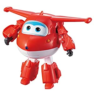 Alpha Animation & Toys- Transforming Super Wings YW710210 Transfoming Jett Plane, rojo, color blanco (