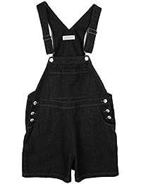 3129c4fc70d0 Gladiolus Womens Ladies Stretch Dungaree Shorts Jumpsuit Plus Size Loose  Short Overalls Jeans