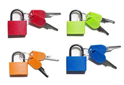Vorhängeschloss-Sicherheit Sperren bunt 4 Kombination Sicherheit Vorhängeschlösser mit Schlüssel