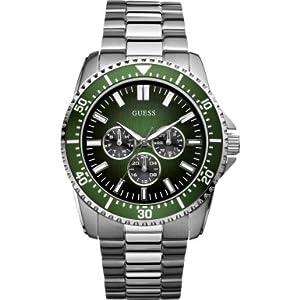 Reloj Guess W10245G3 de cuarzo para hombre con correa de acero inoxidable, color plateado de Guess
