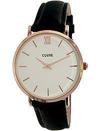 Cluse Montre Femme Analogique Quartz avec Bracelet en Cuir – CL30003