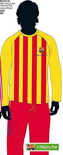 F.C.BARCELONA – Pijama Barça, Color Amarillo Y Rojo, Talla M