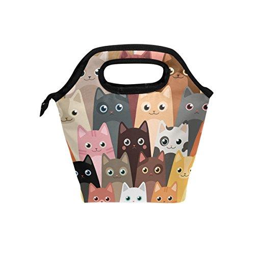 Bolsa almuerzo gatos dibujos animados JSTEL bolsa