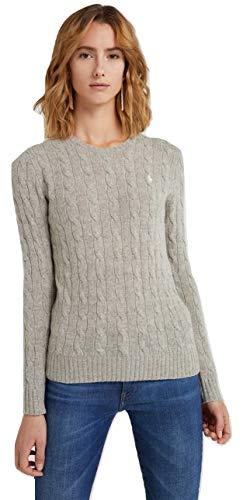 Ralph Lauren Damen Rundhals Pullover - Woll/Cashmere-Mischung (Grau, M) - Lauren Ralph Lauren Spa
