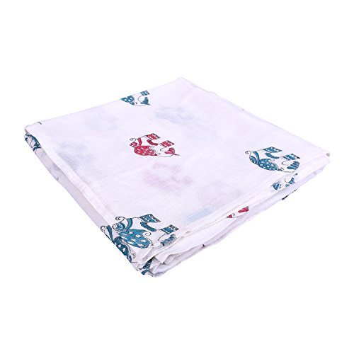 Mom's Home Organic Cotton Baby Muslin Cloth Swaddle - Pack of 3 - Mix Jungle theme - 70 cm x 70 cm- ideal for New Born Baby( Upto 3 kgs)