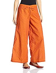 Fabindia Womens Parallel (10427050_Rust_L)