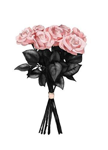 """JUNIQE® Leinwandbild 40x60cm Rosen - Design """"Pink Bouquet"""" (Format: Hoch) - Leinwand, Bilder..."""