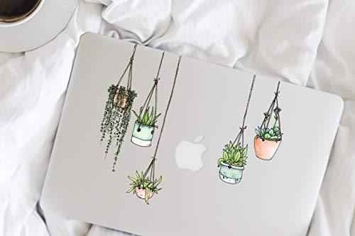 Fünfer-Set Sticker/Aufkleber mit gezeichneten Hängepflanzen-Motiven - Laptop Sticker - Kühlschrank-Sticker - Laptop Aufkleber - MacBook Sticker - Coole Sachen